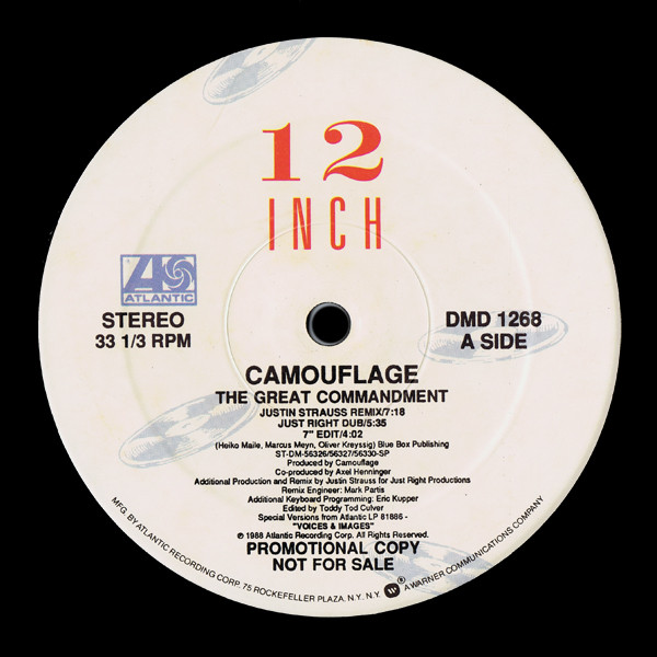 73e6c76d6a Camouflage – The Great Commandment (US Promo 12″) – myvinyldreams